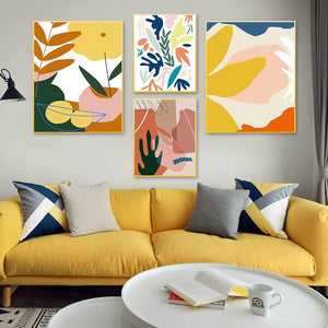 Her Shop Home Decoration Modern Abstract Scandinavia Colorful Gallery Canvas