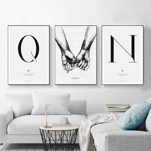 Her Shop Home Decoration Nordic Style Simple Love Posters