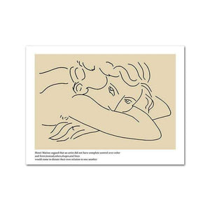 Her Shop Home Decoration 50x70cm Unframed / Picture 5 Picasso Matisse Art Line Drawing Poster