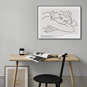 Her Shop Home Decoration Picasso Matisse Art Line Drawing Poster
