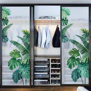 Her Shop Home Decoration Tropical Plant Wall Mural Sticker