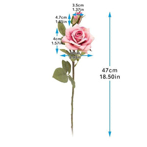 Her Shop Home Decoration Vintage Beautiful Artificial Flowers for Decoration Silk Rose