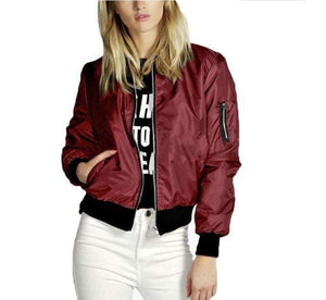 Her Shop jacket Red / S Spring  Basic Jackets Bomber