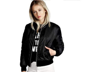 Her Shop jacket Black / S Spring  Basic Jackets Bomber