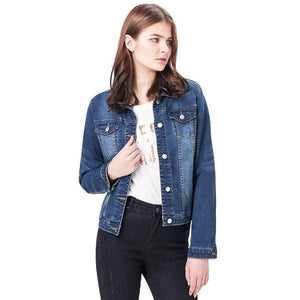 Her Shop Jeans & Denim Bleach Slim Women Denim Jacket