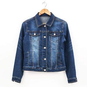 Her Shop Jeans & Denim Dark blue 5296 / S / Russian Federation Bleach Slim Women Denim Jacket