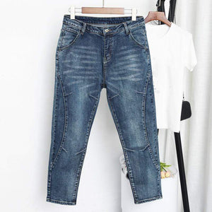 Her Shop Jeans & Denim High Waist Female Boyfriend Jeans