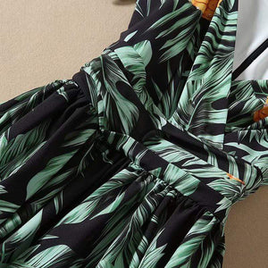 Her Shop Jumpsuits Jungle Flower Long Boho One Piece V-Neck Sling Women's Jumpsuit