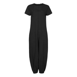 Her Shop Jumpsuits & Rompers Black / S Linen Vintage Lantern Pants Combination Jumpsuits
