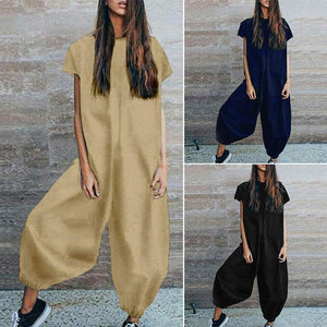 Her Shop Jumpsuits & Rompers Linen Vintage Lantern Pants Combination Jumpsuits