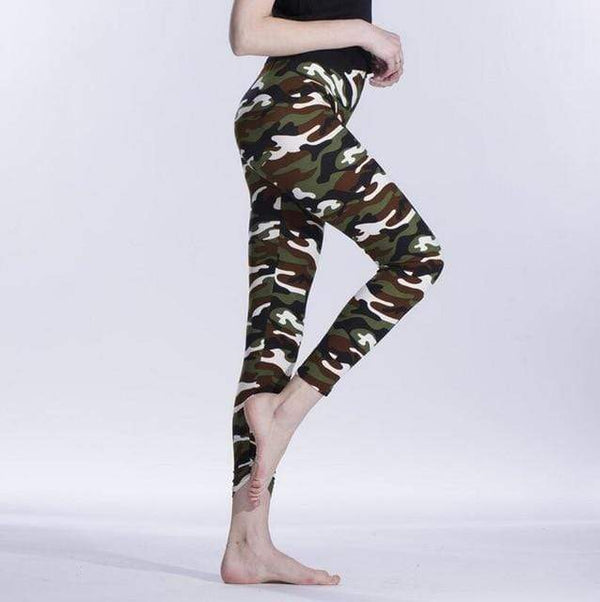 Her Shop Leggings K208 Camouflage 1 / One Size New Fashion Camouflage Printing Elasticity Leggings
