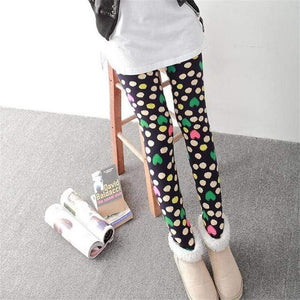 Her Shop Leggings Navy Colored heart / One Size New Fashion Camouflage Printing Elasticity Leggings