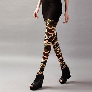 Her Shop Leggings K208 Camouflage 8 / One Size New Fashion Camouflage Printing Elasticity Leggings