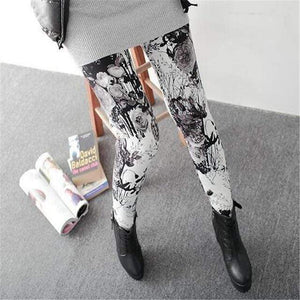 Her Shop Leggings Gray flowers / One Size New Fashion Camouflage Printing Elasticity Leggings
