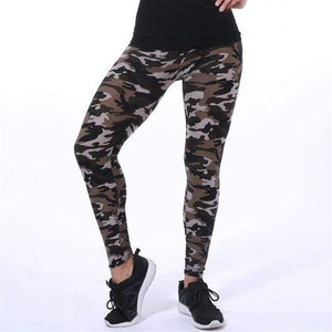 Her Shop Leggings K208 Camouflage 3 / One Size New Fashion Camouflage Printing Elasticity Leggings