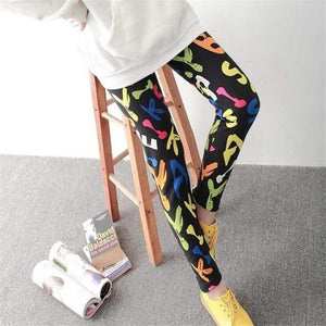 Her Shop Leggings Colored letters / One Size New Fashion Camouflage Printing Elasticity Leggings