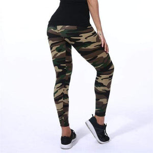 Her Shop Leggings K208 Camouflage 2 / One Size New Fashion Camouflage Printing Elasticity Leggings