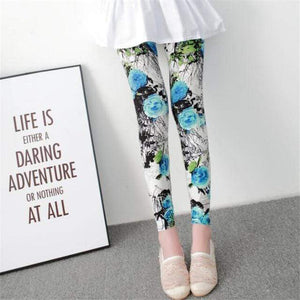 Her Shop Leggings Blue flower / One Size New Fashion Camouflage Printing Elasticity Leggings