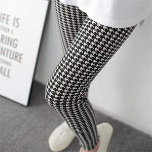 Her Shop Leggings Houndstooth / One Size New Fashion Camouflage Printing Elasticity Leggings