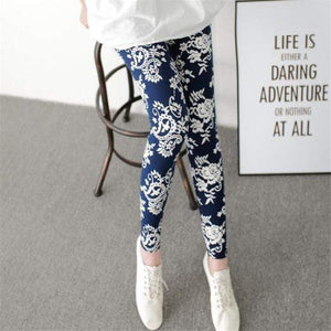 Her Shop Leggings Blue embroidery / One Size New Fashion Camouflage Printing Elasticity Leggings