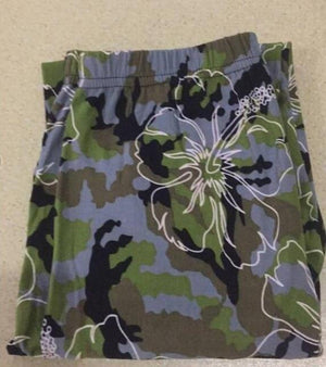Her Shop Leggings Camouflage flowers / One Size New Fashion Camouflage Printing Elasticity Leggings