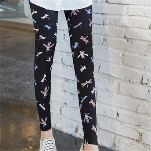 Her Shop Leggings Dragonfly / One Size New Fashion Camouflage Printing Elasticity Leggings