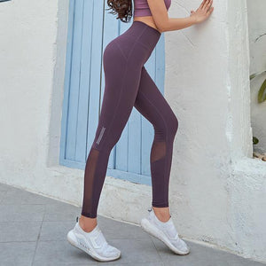 Her Shop Leggings Purple / XXL Women High Waist Gym Legging