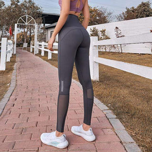 Her Shop Leggings T-Grey / S Women High Waist Gym Legging