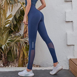 Her Shop Leggings B-Blue / S Women High Waist Gym Legging