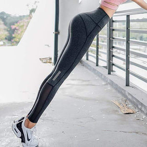 Her Shop Leggings M-Grey / L Women High Waist Gym Legging