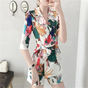 Her Shop Outfits Fashion Printed Shorts Suit