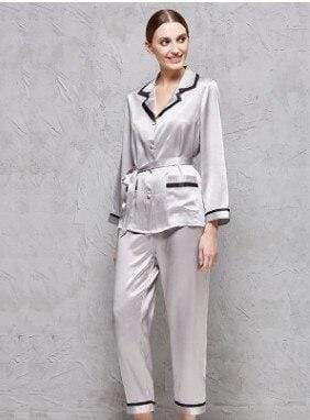Her Shop pajama High-end  100% Mulberry Silk Pajama Suit