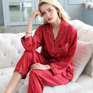 Her Shop pajama Real Silk Pajama Sets