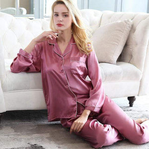 Her Shop pajama pale mauve / XXL Real Silk Pajama Sets