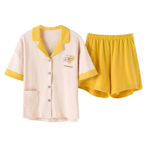 Her Shop pajama Yellow pajamas / L Summer 2020 Loose Pajama Sets