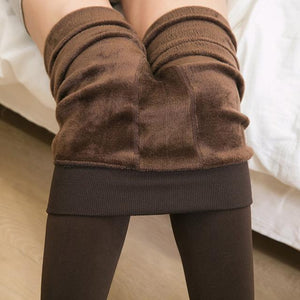 Her Shop Pants and Leggings Brown / One Size Autumn Winter Cotton Velvet Leggings Women High Waist Side Stripes Sporting Fitness Leggings Pants Warm Thick Leggings