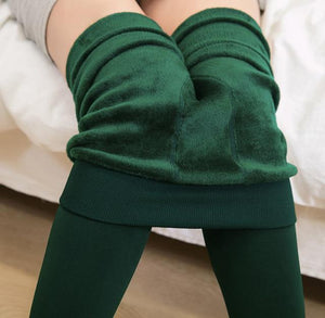 Her Shop Pants and Leggings Green / One Size Autumn Winter Cotton Velvet Leggings Women High Waist Side Stripes Sporting Fitness Leggings Pants Warm Thick Leggings