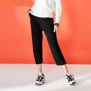Street Wear Straight Fit Crop Casual Pants