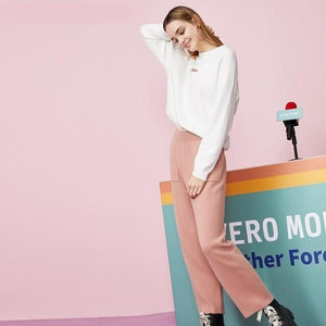 Her Shop Pants and Leggings C12 Marple pink / XS Street Wear Straight Fit Crop Casual Pants