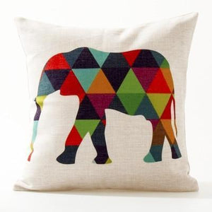 Her Shop pillow case See below for size descriptions / E Europe Elephant Deer Geometric Pillow Cushion Cover