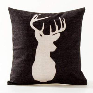 Her Shop pillow case See below for size descriptions / C Europe Elephant Deer Geometric Pillow Cushion Cover