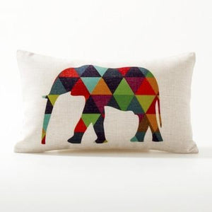 Her Shop pillow case See below for size descriptions / J 30x50cm Europe Elephant Deer Geometric Pillow Cushion Cover