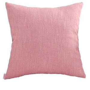 Her Shop pillow case 40x40cm / Pink Plain Cushion Cover Solid Home Decorative Vintage Pink Ivory Blue Green Pillow Case