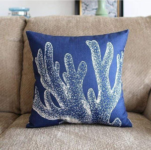 Her Shop pillow case 45X45 and 30X50 / a5 Sea style Coral Starfish Printed Cushion Cover
