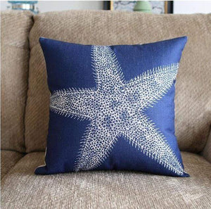 Her Shop pillow case 45X45 and 30X50 / a10 Sea style Coral Starfish Printed Cushion Cover
