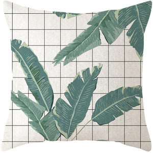 Her Shop pillow case 45x45 and 30x50 / a3 Tropical Plants Palm Leaf Cushion Cover