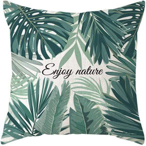 Her Shop pillow case 45x45 and 30x50 / a5 Tropical Plants Palm Leaf Cushion Cover