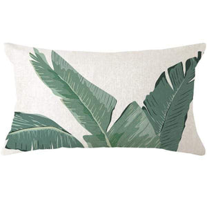 Her Shop pillow case 45x45 and 30x50 / a12 Tropical Plants Palm Leaf Cushion Cover