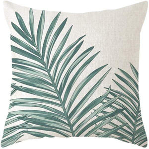 Her Shop pillow case 45x45 and 30x50 / a4 Tropical Plants Palm Leaf Cushion Cover