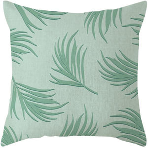 Her Shop pillow case 45x45 and 30x50 / a8 Tropical Plants Palm Leaf Cushion Cover